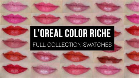 l oreal color riche lipstick l or 233 al color riche collection swatches