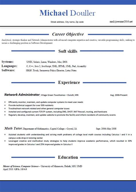 resume format microsoft word simple resume format free download in