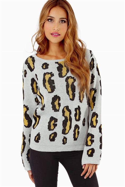 Leopard Print Pullover sand sweater leopard sweater animal print sweater