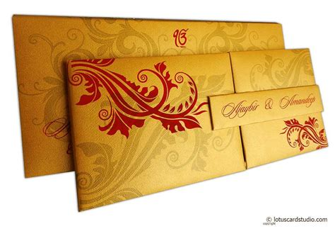 Wedding Card Materials by Golden Magnet Dazzling Wedding Invitation Card With