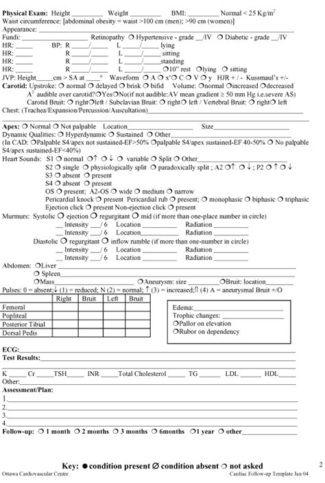 physical exam template lisamaurodesign