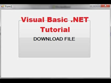 tutorial visual basic free download visual basic net tutorial 37 how to download a file in