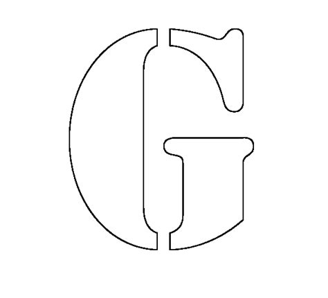 alphabet stencil coloring pages coloring pages of letters stencil of g coloring