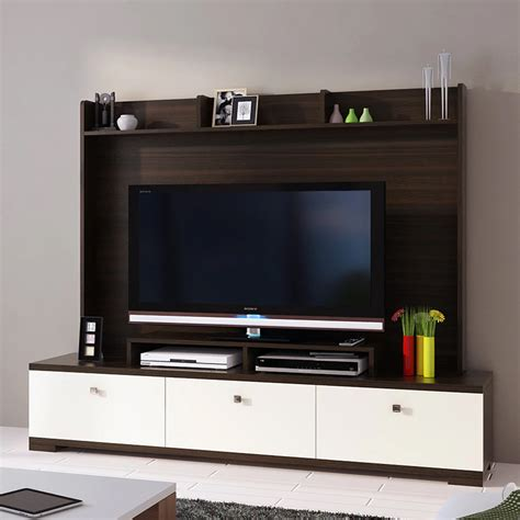 buy galaxy entertainment cum wall tv unit  fumed oak