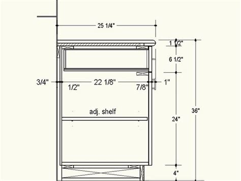 kitchen cabinet standard height proper depth for frameless cabinets info to do