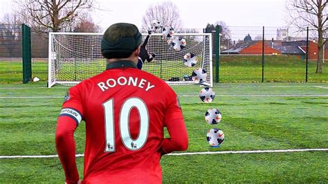 soccer record wayne rooney world record football challenge