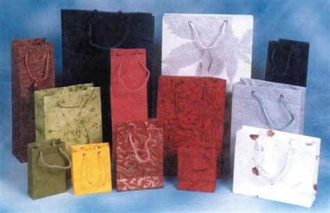 Handmade Paper Bag - handmade paper bags shopping bags eben papers india