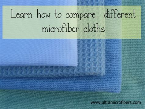 Microfiber Tipe compare microfiber products how to understand the quality