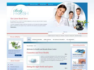 template joomla medical free download free joomla 1 7 health templates programs