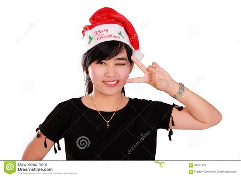 cute xmas girl posing stock photo image  cute confident