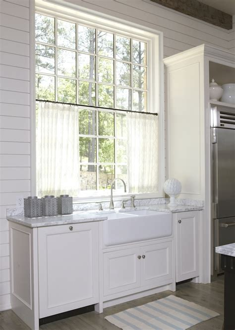farmhouse sink ideas large cabinets and window shiplap wall paneling design ideas