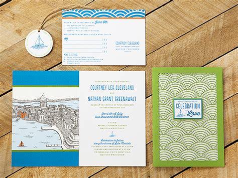 nate s wisconsin lake wedding invitations
