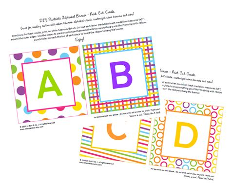 Printable Abc Banner | getting crafty with nicole free abc s banner printable