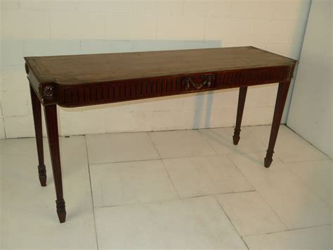 chippendale style carved mahogany console sofa table