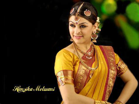 hansika motwani wedding saree jewellry sheclickcom