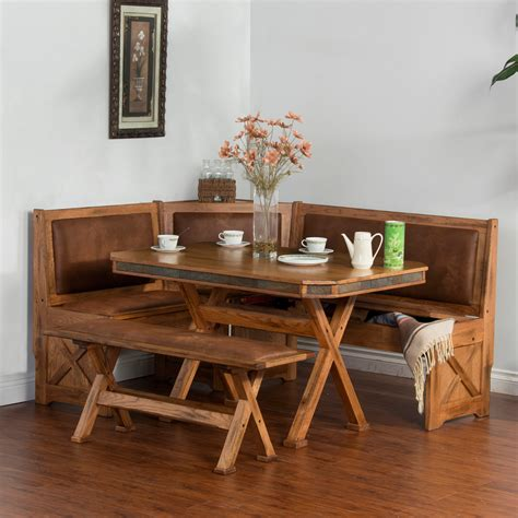 Nook Dining Table Set Designs Sedona 4 Breakfast Nook Set With Side Bench Dining Table Sets At Hayneedle