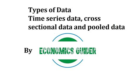 cross sectional time series types of data time series data cross sectional data and