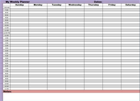 weekly calendar template with hours printable week schedule template 24 hour calendar