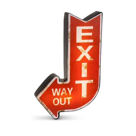battery operated lighted exit signs gerson 93150