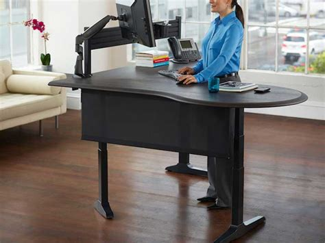 sit stand office desk standing desks los angeles office furniture crest