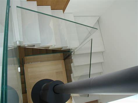 ringhiera in vetro ringhiera bianco ral 9010 idealferro