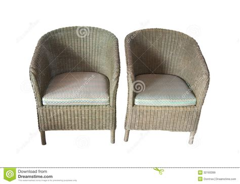 white wicker armchair wicker comfortable armchair isolated on white background royalty free stock images