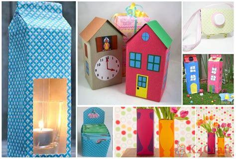 Papercraft Materials - diy crafts with recycled milk cartons craft ideas