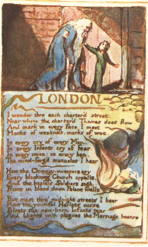 Themes In London By Blake | quot london quot blake engraving for the poem color