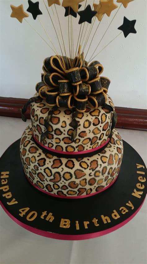 leopard print  birthday cake  clever  cake company