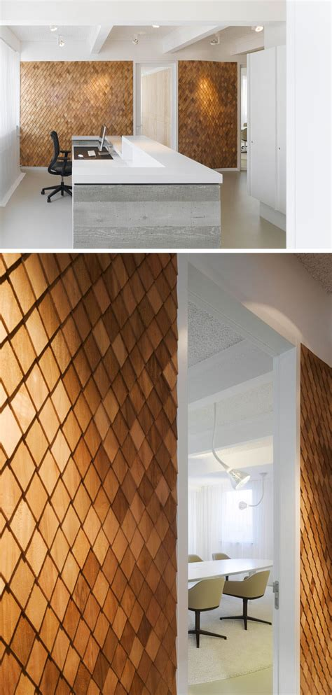 wood panel accent wall interiors pinterest using wood shingles to create an accent wall adds warmth