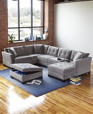 Elliot Sectional Sofa Elliot Fabric Sectional Living Room Furniture Collection