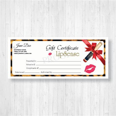 Lipsense Gift Certificates Pdq Lip Prints Lipsense Gift Certificate Template Free