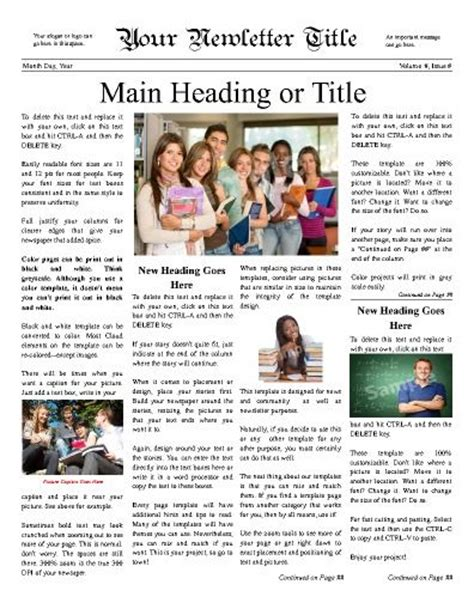 themes for college newsletter newsletter templates templates and cloud on pinterest