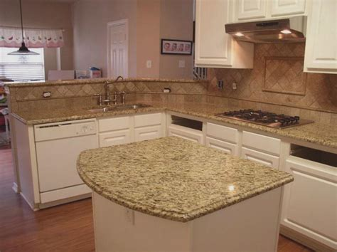 Backsplash Ideas For Kitchens With Granite Countertops by Venetian Gold Granite Kitchen Countertops Tile Backsplash