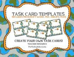free blank task card template 1000 images about middle school high school geography