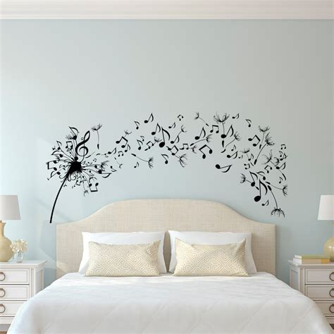 stickers for bedroom walls dandelion wall decal bedroom music note wall decal dandelion