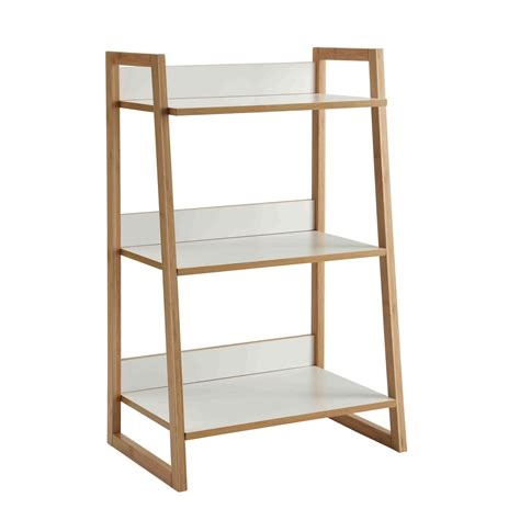 white 3 tier bookshelf convenience concepts free standing