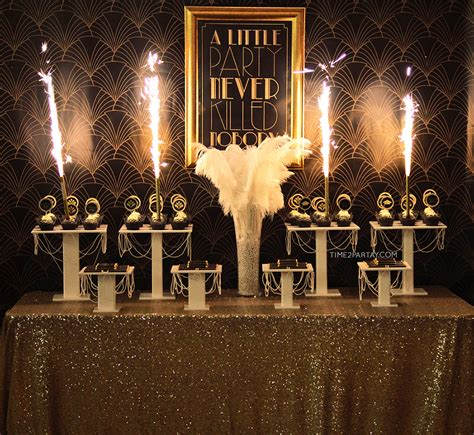 time theme in the great gatsby a great gatsby themed graduation party time2partay com