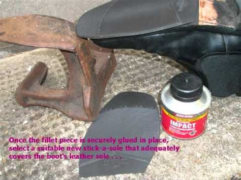 diy shoe sole repair home diy repair of shoe and boot soles