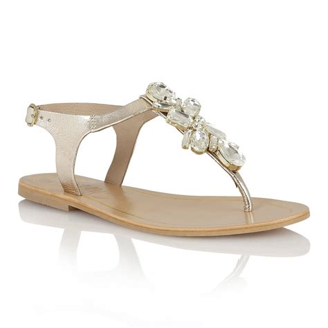 golden sandals buy ravel el paso flat sandals in gold leather