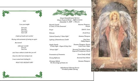 Program For A Memorial Service Funeral Programs Samples Cake Ideas And Designs