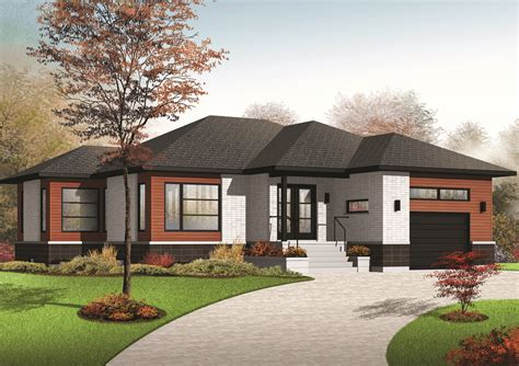 Contemporary Ranch Home Plans by Comfortable Contemporary Ranch Home Plan 22384dr