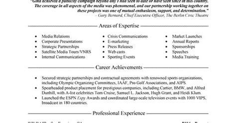 public relations executive resume exle executive