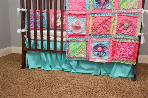 Crib Bed Skirt Baby Crib Skirt Turquoise Or Aqua Dust Ruffle By Avisiontoremember