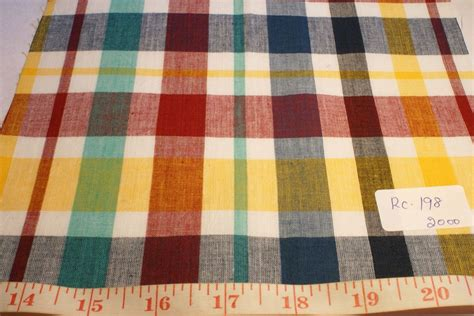 Madras Patchwork Fabric - madras fabric madras plaid plaid fabric patchwork