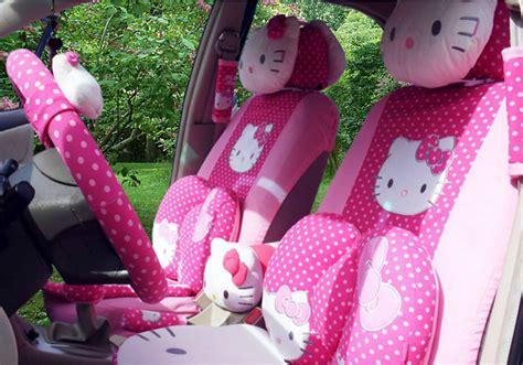 jok set car seat hellokitty aliexpress buy 18 pcs car covers hello