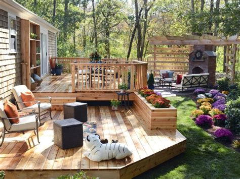simple backyard decks uncategorized exciting concrete patio ideas for small