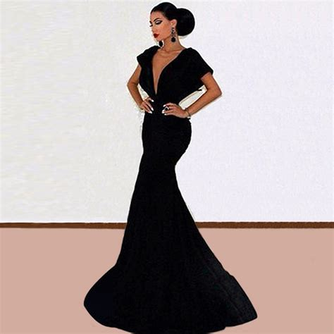 Find More Evening Dresses Information about New Elegant Long Black Evening Gowns   Evening