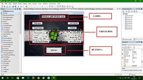 cara membuat game quiz cara membuat quiz di microsoft visual studio just info