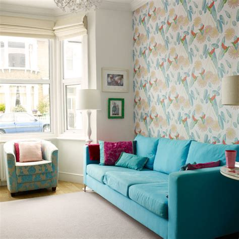 wallpaper living room pinterest colourful living room ideas 20 of the best ideal home